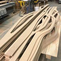 Gefreesd hout bolle vorm