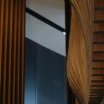 Lamellen kantoorpand close-up