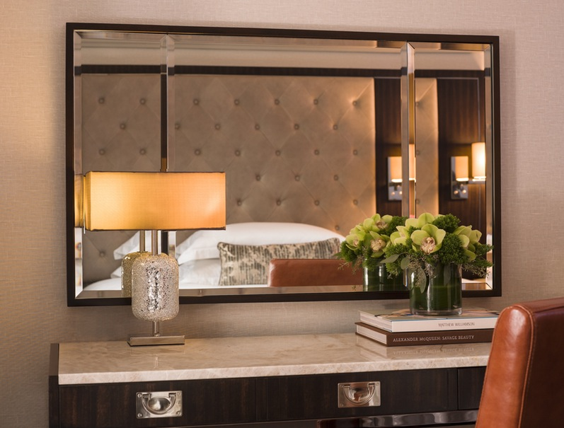 Luxe Hotel achterwand gestoffeerd