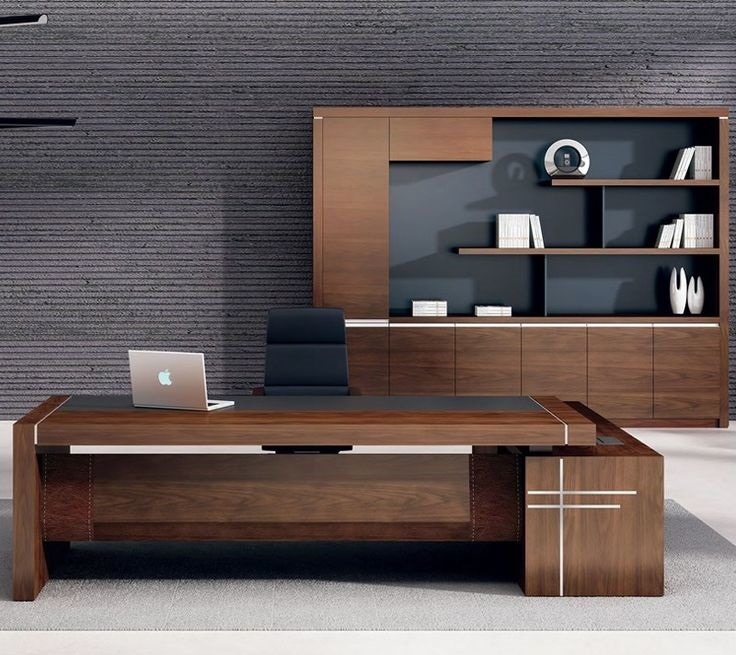 Modern bureau woonkamer